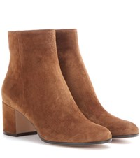 Gianvito Rossi Margaux Suede Ankle Boots Brown