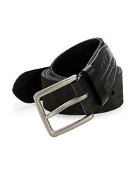 John Varvatos Suede Belt Black