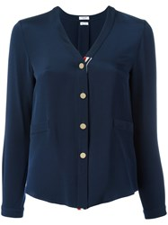 Thom Browne Button Front Blouse Blue