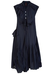 High Hoedown Navy Ruffled Dress