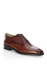 Sutor Mantellassi Leather Brogue Oxford Shoes Black Brown