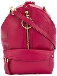 See By Chloe Mino Mini Backpack Pink And Purple