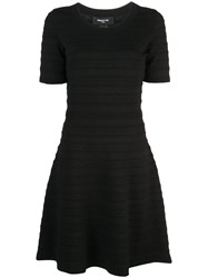 Paule Ka Flared Mini Dress Black