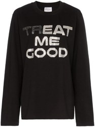 Ashish Treat Me Good Cotton Sweatshirt Black