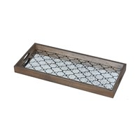 Notre Monde Bronze Gate Rectangular Mirror Tray