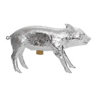 Areaware Bank In The Form Of A Pig Money Bank Chrome