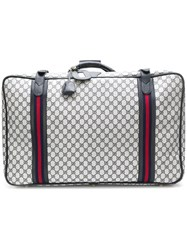 Gucci Vintage Signature Gg Suitcase Grey
