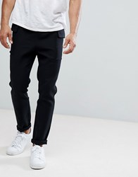 Native Youth Twill Cargo Pocket Trousers Black
