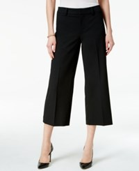 Charter Club Cropped Wide Leg Pants Only At Macy's Deep Black