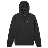 A Bathing Ape Relaxed One Point Zip Hoody Black