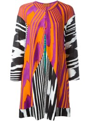 Missoni Zebra Print Knit Coat Multicolour