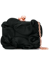 Sophia Webster Ruffle Clutch Bag Black