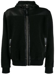 John Richmond Panel Hooded Jacket Black