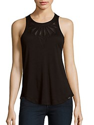 Koral Sheer Panel Tank Top Black