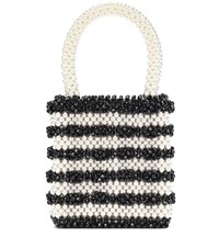 Shrimps Antonia Bead And Faux Pearl Tote Black