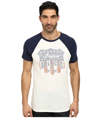 Lucky Brand Indian Shield Graphic Tee Navy Multi Men's T Shirt Blue