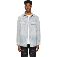Fear Of God Blue Denim Vented Shirt Jacket