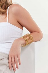 Urban Outfitters Wire Statement Cuff Bracelet Gold