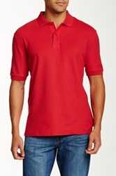 Faconnable Solid Polo Red