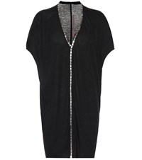 Rick Owens Lilies Embellished Tunic Top Black