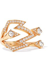 Stephen Webster Lady Stardust 18 Karat Rose Gold Diamond Ring