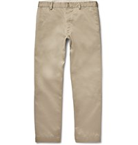 Visvim Pastoral Wide Leg Cotton Twill Chinos Neutrals