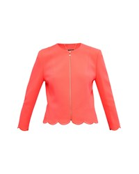 Ted Baker Heraly Scallop Trim Cropped Jacket Orange