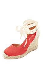 Soludos Tall Wedge Espadrilles Coral
