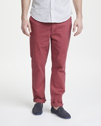 John Lewis Edison Chino Trousers Washed Red