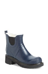 Women's Ilse Jacobsen Hornbaek 'Rub 47' Short Waterproof Rain Boot Dark Indigo