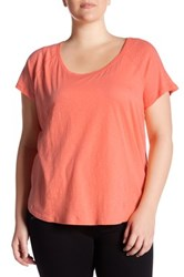 Z By Zella Scoop Neck Tee Plus Size Orange