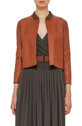 Akris Punto Women's Perforated Leather Bomber Jacket