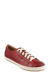 Taos Women's 'Freedom' Sneaker Red Leather