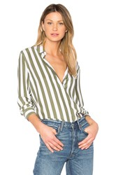 Equipment Essential Striped Button Up White