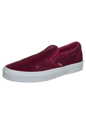 Vans Classic Slipons Pebble Snake Chili Pepper Red