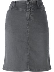 Closed Straight Denim Skirt Grey