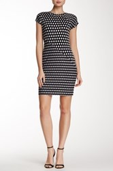 Weston Wear Printed Sheath Dress Black