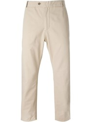 Wood Wood 'Oskar' Chino Trousers Nude And Neutrals