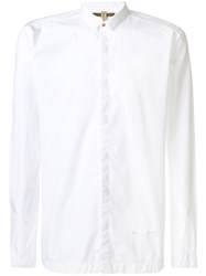 Dnl Concealed Button Shirt Cotton White