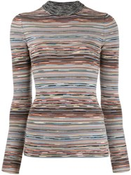 Missoni Ribbed Design Jumper White