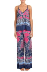 In Bloom By Jonquil Women's Knit Pajamas Paisley Patch Border