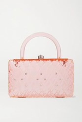 Hvn Rio Crystal Embellished Acrylic Tote Pink