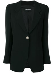 Giorgio Armani Single Button Blazer Black