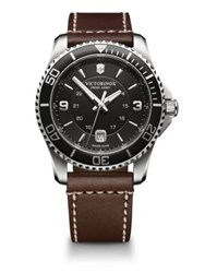 Tw Steel Maverick Stainless Steel Leather Watch Brown