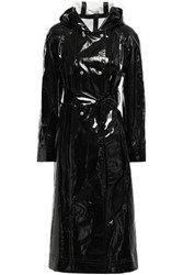 Alexachung Woman Belted Coated Cotton Blend Trench Coat Black