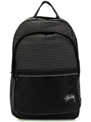 Stussy Checked Backpack Black
