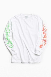 Hall Of Fame Stonedage Long Sleeve Tee White