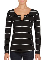Joe's Jeans Yarn Dye Knit Top Black White