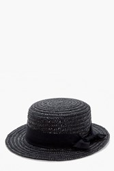 Kara Small Brim Ribbon Detail Straw Hat