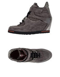 Pas De Rouge High Tops And Trainers Dove Grey